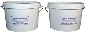 Blue-Sil perfect 85 Knetsilikon - 2x 2,6 Liter Eimer  | günstig bestellen bei WEBER DENTAL STUTTGART