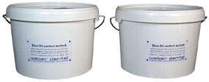 Blue-Sil perfect 85 Knetsilikon 2x 2,6 Liter Eimer Base + Kat (ca. 10 kg) | günstig bestellen bei WEBER DENTAL STUTTGART