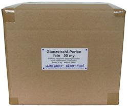 Glanzstrahl-Perlen - 15 kg Karton  | günstig bestellen bei WEBER DENTAL STUTTGART