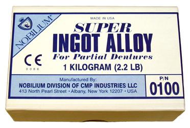 NOBILIUM SUPER INGOT ALLOY 1 kg Kunstlederbeutel im Karton, Alloy in Zylinderform | günstig bestellen bei WEBER DENTAL STUTTGART
