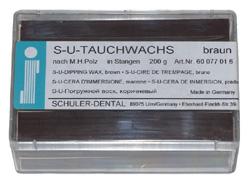 S-U-Tauchwachs braun,nach M.H. Polz 200 g Packung | günstig bestellen bei WEBER DENTAL STUTTGART