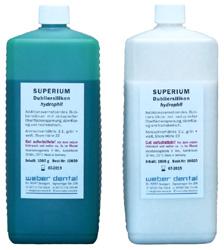 SUPERIUM Dubliersilikon hydrophil 2x 1 kg Flasche | günstig bestellen bei WEBER DENTAL STUTTGART