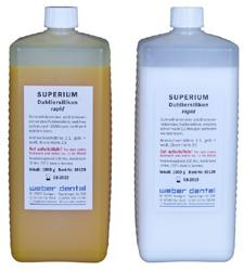 SUPERIUM Dubliersilikon rapid - 2x 1 kg Flasche | günstig bestellen bei WEBER DENTAL STUTTGART