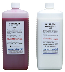 SUPERIUM Dubliersilikon soft - 2x 1 kg Flasche | günstig bestellen bei WEBER DENTAL STUTTGART