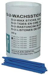 S-U Wachssticks, blau, 5 mm 250 g Packung, extrahart | günstig bestellen bei WEBER DENTAL STUTTGART