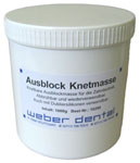 Ausblock Knetmasse grau 1000 g Dose | günstig bestellen bei WEBER DENTAL STUTTGART
